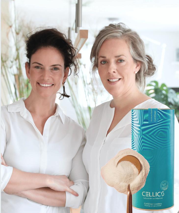 Suzan Oerlemans en Isabel van Genugten founders Cellics skin nutrition company